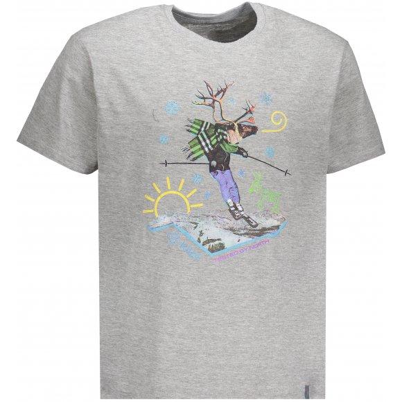 Pánské triko KILPI LEUS-M JM0301KI SVĚTLE ŠEDÁ