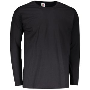 Pánské triko s dlouhým rukávem FRUIT OF THE LOOM VALUEWEIGHT LONG SLEEVE T BLACK
