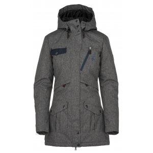 Dámský zimní kabát KILPI BRASIL-W JL0909KI TMAVĚ ŠEDÁ velikost  34 ... a19c8bc2266