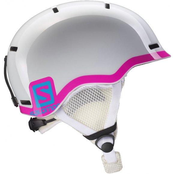 Dětská lyžařská helma SALOMON GROM L37773500 WHITE GLOSSY/PINK