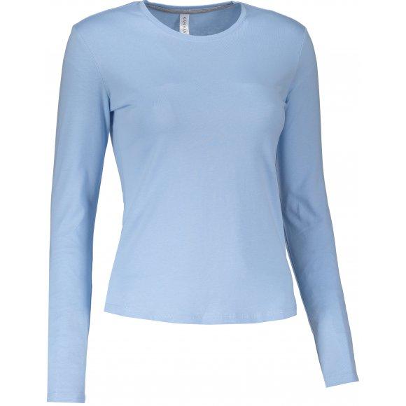 Dámské triko s dlouhým rukávem KARIBAN SKY BLUE