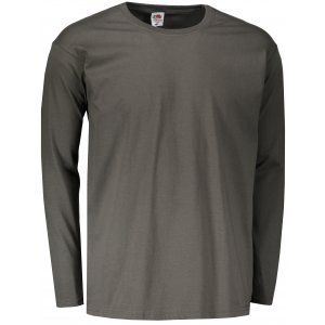 Pánské triko s dlouhým rukávem FRUIT OF THE LOOM VALUEWEIGHT LONG SLEEVE T  LIGHT GRAPHITE 0834b1fe35