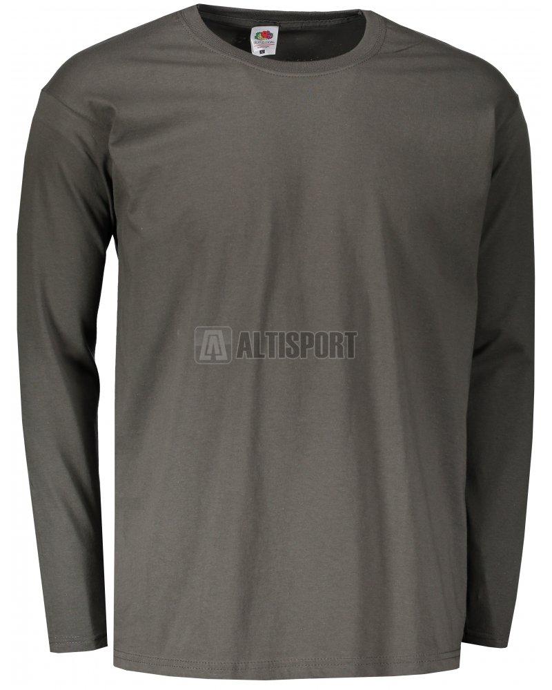 535edd2ce7be Pánské triko s dlouhým rukávem FRUIT OF THE LOOM VALUEWEIGHT LONG SLEEVE T  LIGHT GRAPHITE
