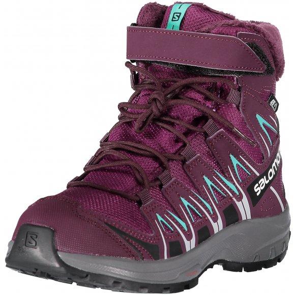 Dětské zimní boty SALOMON XA PRO 3D WINTER TS CSWP J L40651000 DARK PURPLE/POTENT PURPLE/ATLANTIS