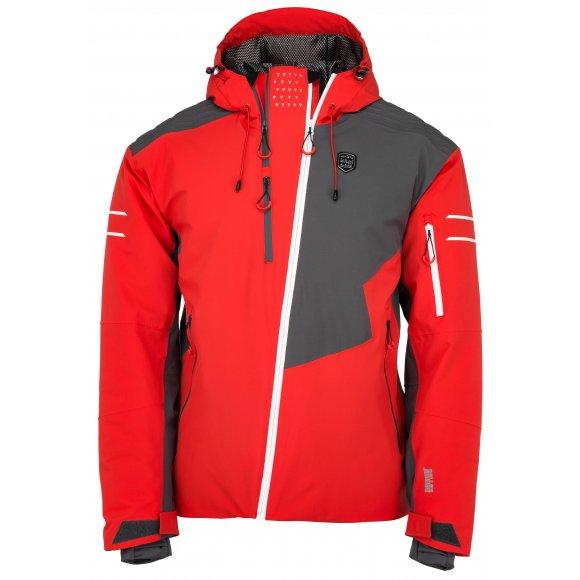Pánská lyžařská bunda  KILPI ASIMETRIX-M JM0120KI ČERVENÁ