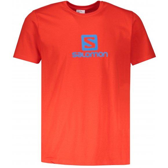 Pánské triko SALOMON COTON LOGO SS TEE M L40358600 FIERY RED