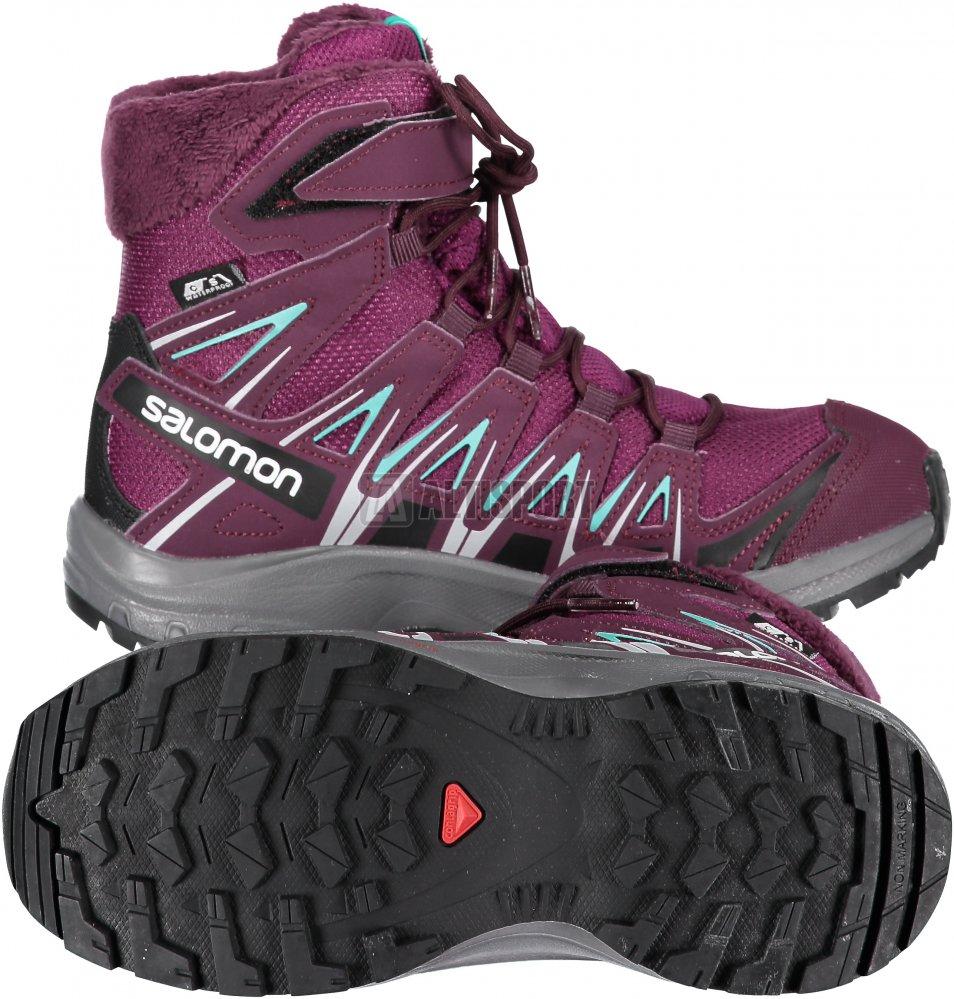 519960a5a39 Dětské zimní boty SALOMON XA PRO 3D WINTER TS CSWP J L40651000 DARK  PURPLE POTENT