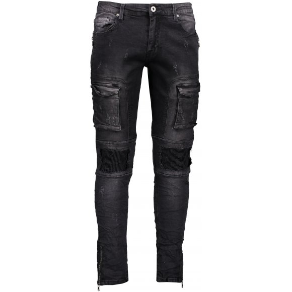 Pánské kalhoty OMBRE AP773 BLACK