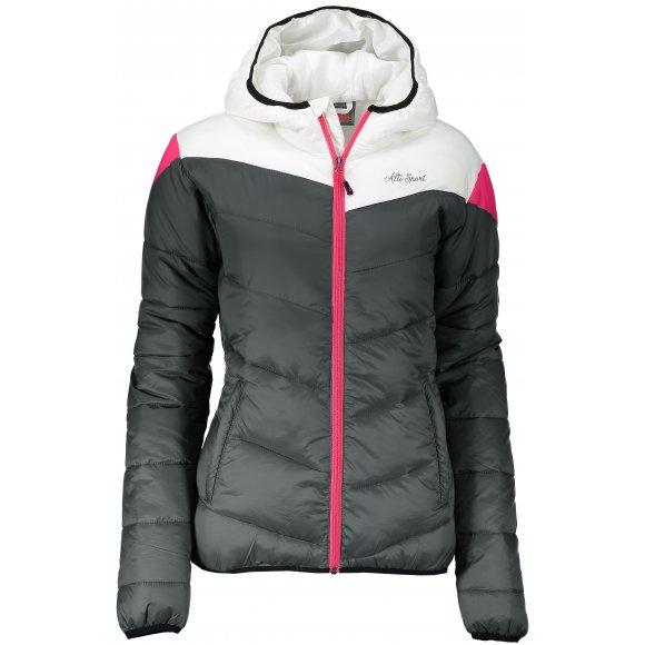 Dámská zimní bunda ALTISPORT SAMBANA TMAVĚ ŠEDÁ
