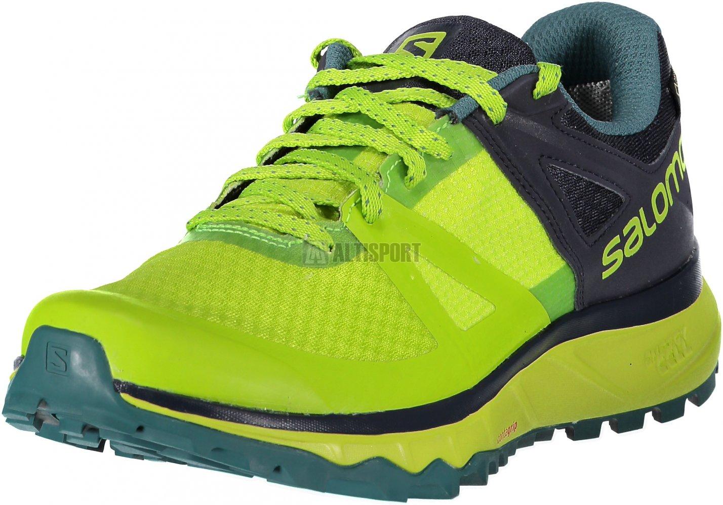 Pánské běžecké boty SALOMON TRAILSTER GTX L40612000 ACID  LIME GRAPHITE HYDRO. f3f12a9c71