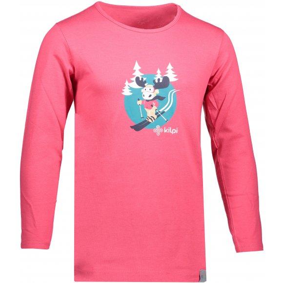 Dětské triko KILPI LERO-J JJ0081KI RŮŽOVÁ