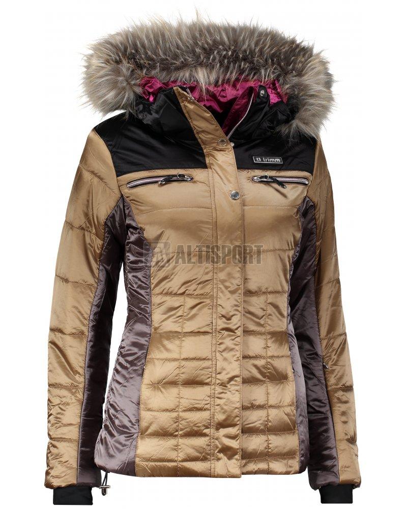17235cf2c351 Dámská lyžařská bunda TRIMM ESTER GOLDEN PLATINUM BLACK velikost  XS ...