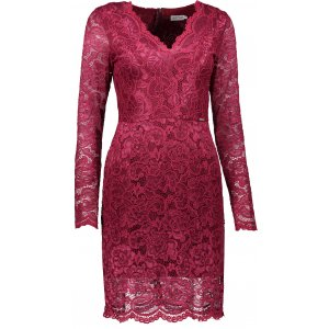 48107763228 Dámské krajkové šaty NUMOCO A170-5 VÍNOVÁ