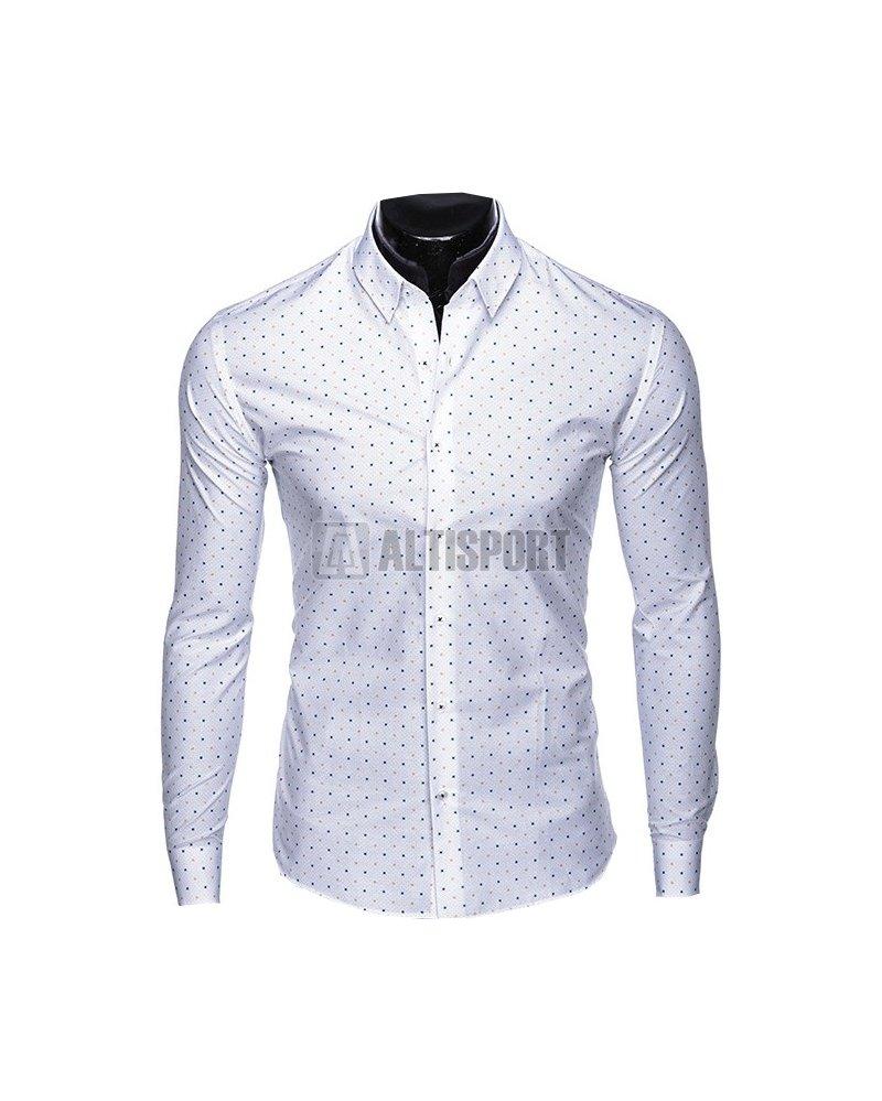 90d5c17ed0e Pánské košile OMBRE AK461 WHITE velikost  L   ALTISPORT.cz