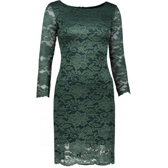 Dámské šaty s krajkou NUMOCO A180-3 ZELENÁ