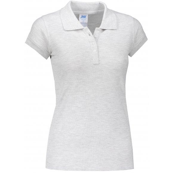 Dámské triko s límečkem JHK REGULAR LADY ASH MELANGE