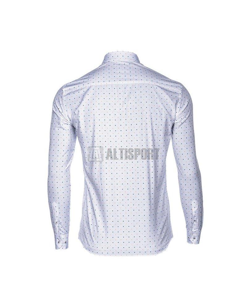 5d7c3594100 Pánské košile OMBRE AK461 WHITE velikost  S   ALTISPORT.cz