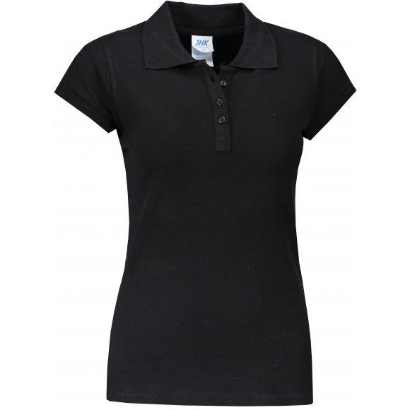 Dámské triko s límečkem JHK REGULAR LADY BLACK