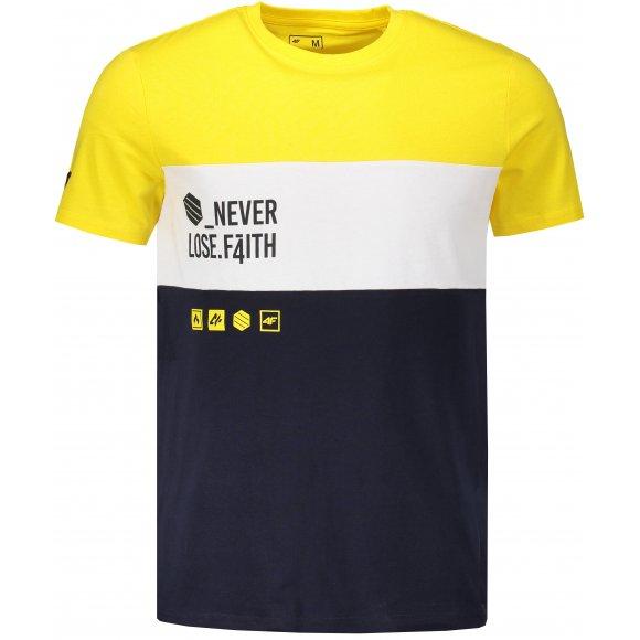 Pánské tričko 4F TSM205 YELLOW