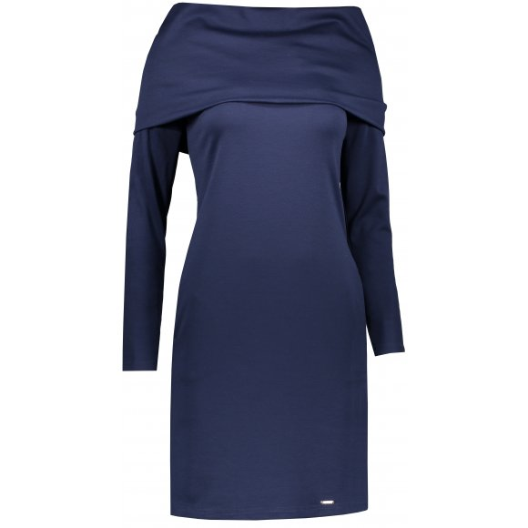Dámské šaty NUMOCO A131-5 TMAVĚ MODRÁ