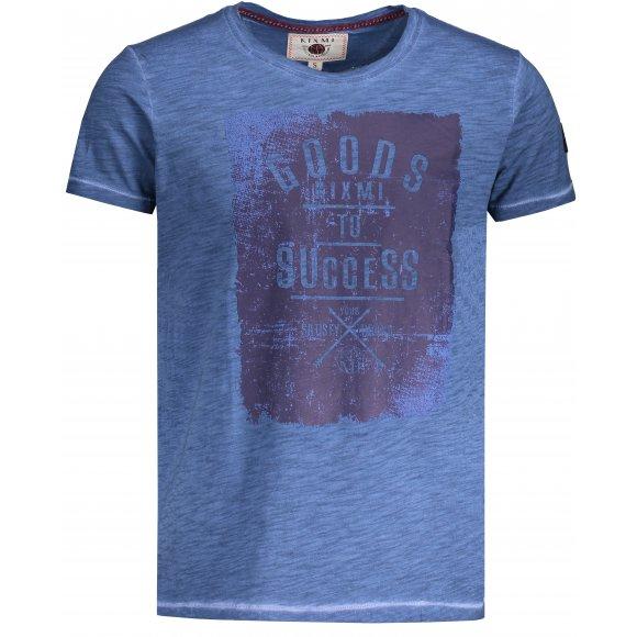 Pánské triko s krátkým rukávem KIXMI HINES MODRÁ