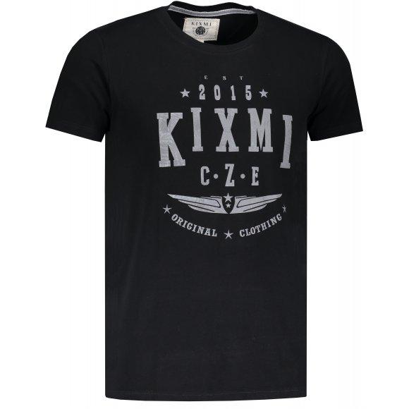 Pánské triko s krátkým rukávem KIXMI HARLY ČERNÁ
