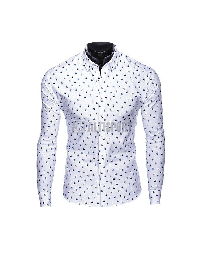 Pánské košile OMBRE AK459 WHITE velikost  M   ALTISPORT.cz dd545be01c