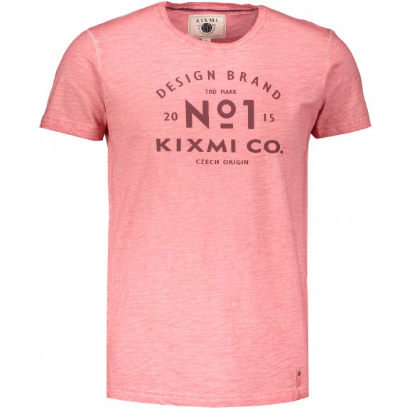 Pánské triko s krátkým rukávem KIXMI HENRIK SVĚTLE ORANŽOVÁ