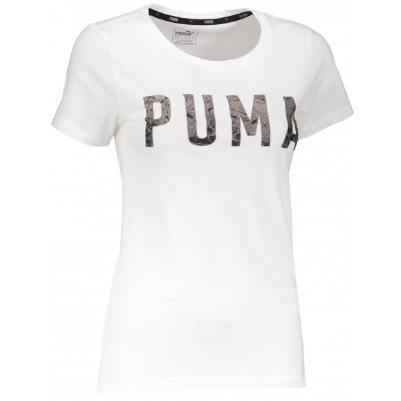Dámské triko PUMA ATHLETIC TEE 85185757 PUMA WHITE/METALICASH