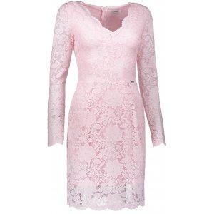 18349e9b177 Dámské krajkové šaty NUMOCO A170-4 SVĚTLE RŮŽOVÁ