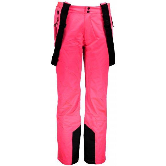Dámské lyžařské kalhoty 4F SPDN201 SALMON CORAL NEON