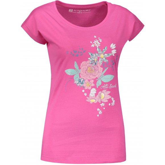 Dámské triko s krátkým rukávem ALTISPORT ODRIA LTSN524 RŮŽOVÁ