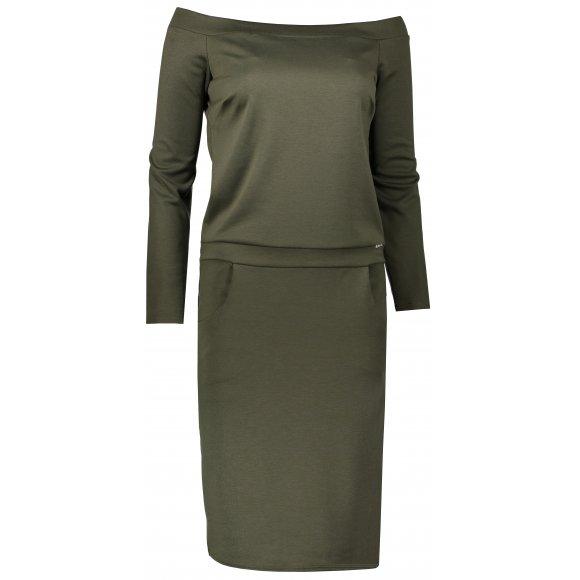 Dámské šaty NUMOCO A225-1 KHAKI