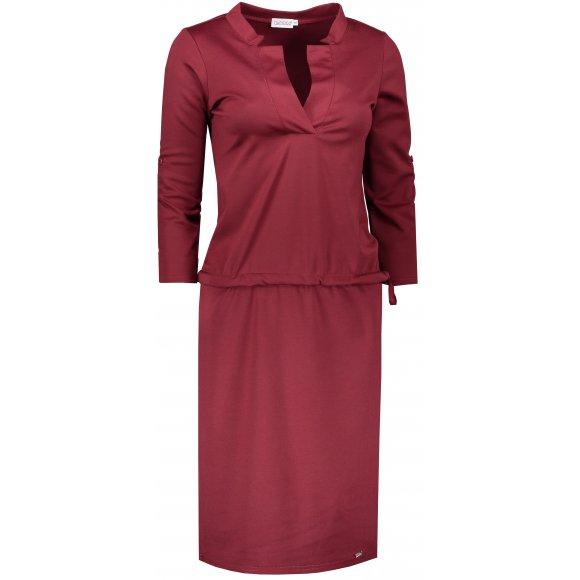 Dámské šaty NUMOCO A161-9 VÍNOVÁ