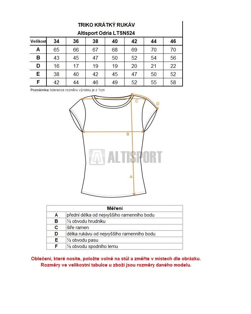 f6db564a56d Dámské triko s krátkým rukávem ALTISPORT ODRIA LTSN524 TMAVĚ MODRÁ ...
