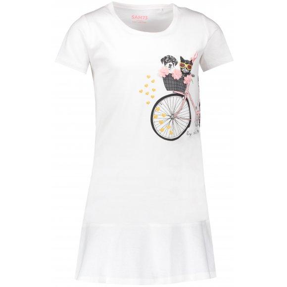 Dívčí šaty SAM 73 REMPARTO KSKN060 BÍLÁ