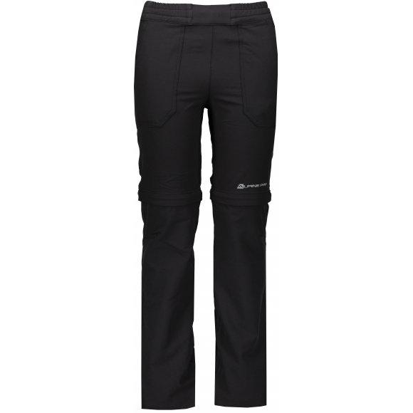 Dětské softshellové kalhoty/kraťasy ALPINE PRO PANTALEO 4 KPAN131 ČERNÁ