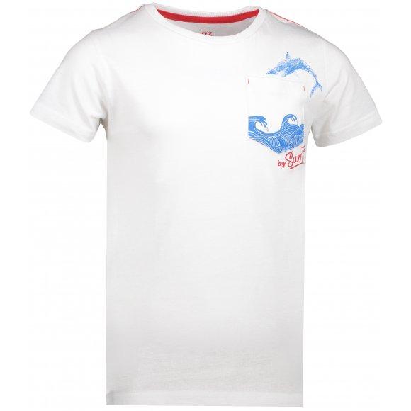 Chlapecké triko SAM 73 CALVINO KTSN177 BÍLÁ