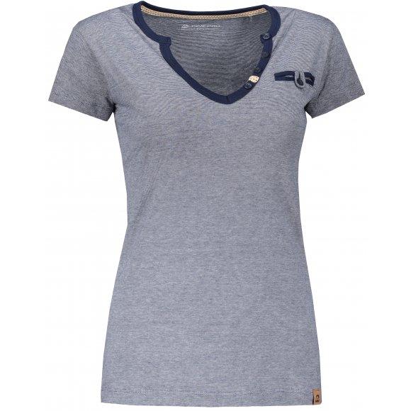Dámské tričko s krátkým rukávem ALPINE PRO ROPERA 3 LTSN426 MODRÁ