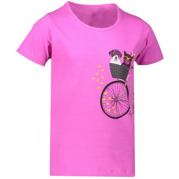 Dívčí triko SAM 73 TOMBEO KTSN204 RŮŽOVÁ
