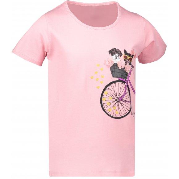 Dívčí triko SAM 73 TOMBEO KTSN204 SVĚTLE RŮŽOVÁ