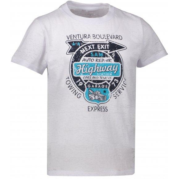 Chlapecké triko s krátkým rukávem SAM 73 BT 523 BÍLÁ