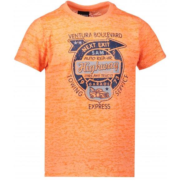 Chlapecké triko s krátkým rukávem SAM 73 BT 523 ORANŽOVÝ MELÍR NEON