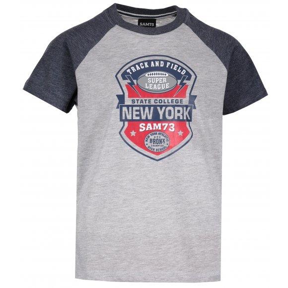 Chlapecké triko s krátkým rukávem SAM 73 BT 522 SVĚTLE ŠEDÁ