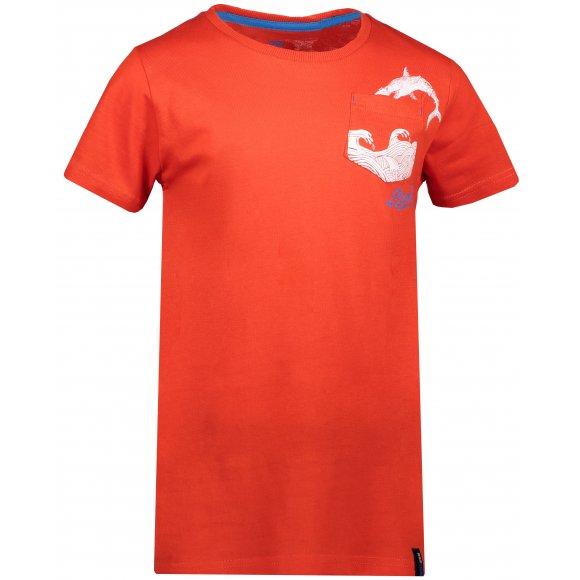 Chlapecké triko SAM 73 CALVINO KTSN177 ORANŽOVÁ