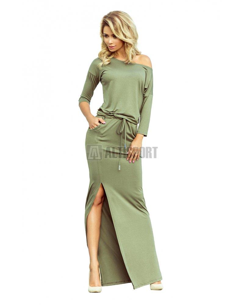 Dámské šaty NUMOCO A220-1 OLIVOVÁ velikost  S   ALTISPORT.cz 69b49a2527