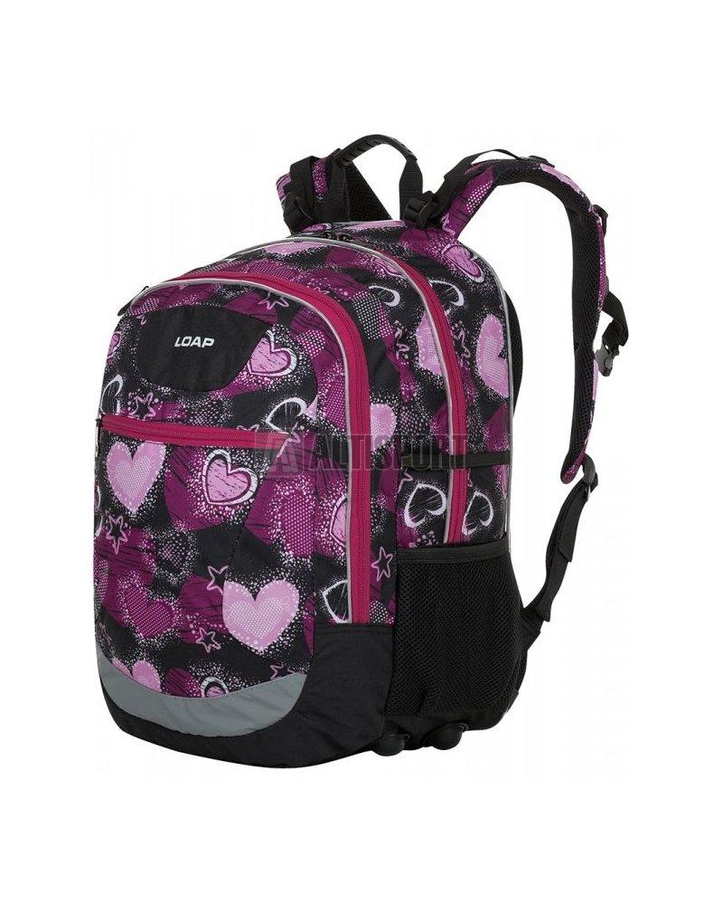 9e500e9953 Školní batoh LOAP ELLIPSE BD17160 ČERNORŮŽOVÁ velikost  25 l ...