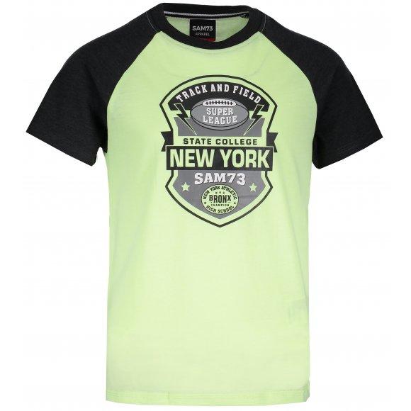 Chlapecké triko s krátkým rukávem SAM 73 BT 522 ŽLUTÝ NEON