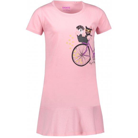 Dívčí šaty SAM 73 REMPARTO KSKN060 SVĚTLE RŮŽOVÁ
