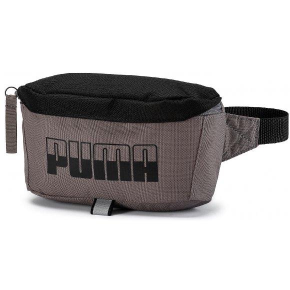 Ledvinka PUMA PLUS WAIST BAG II 07575102 CHARCOAL GRAY/BLACK